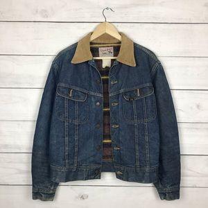 Vintage 1960s Lee Storm Rider Lined Denim Jacket